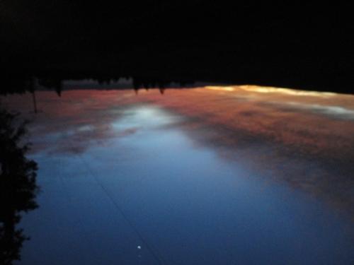 Sunrise with Venus blur